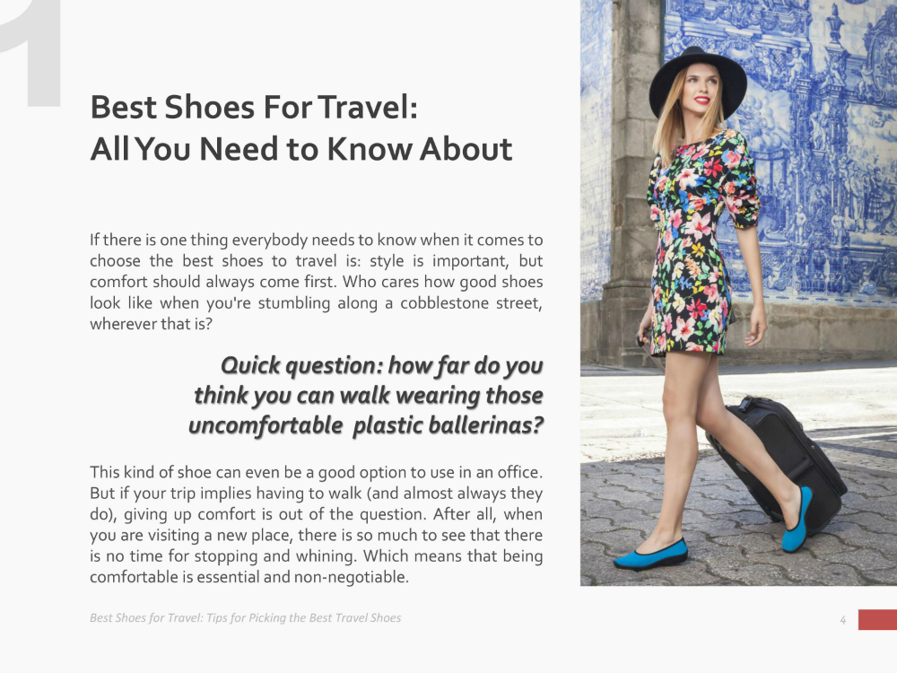 Amazing Tips for Picking the Best Shoes for Travel - Download Free eBook - If you're a travel lover, you probably have gotten yourself wondering, one time or another, which are the best shoes for travel to suit beautifully your feet during your adventures around the world. Have you been asking yourself one of these questions? If so, this eBook is just a perfect match for you. Keep reading to discover how you can download it for free! ➡ Easy Walk Experience Blog is all about fashion tips, travel inspiration, lifestyle trends and much more.